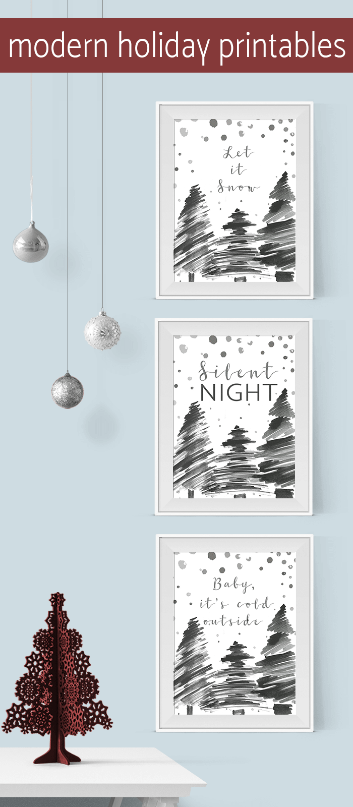 Modern Printables For Decor Gifts Cards And More Winter Holiday Crafts Christmas Projects Diy Christmas Printables