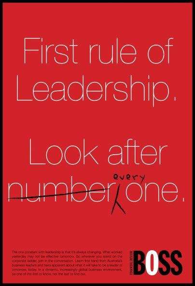 BOSS Financial Review: First rule of Leadership