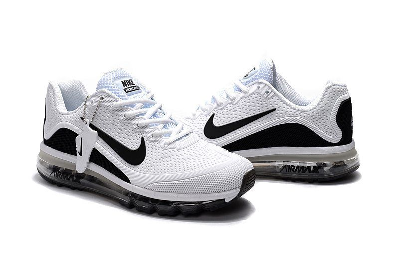 new concept 95a66 b0f0c New Coming Nike Air Max 2017 5 KPU White Black Men Shoes