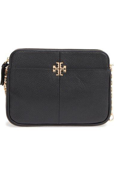 TORY BURCH Ivy Leather Crossbody Bag. #toryburch #bags #shoulder bags #leather #crossbody #lining #