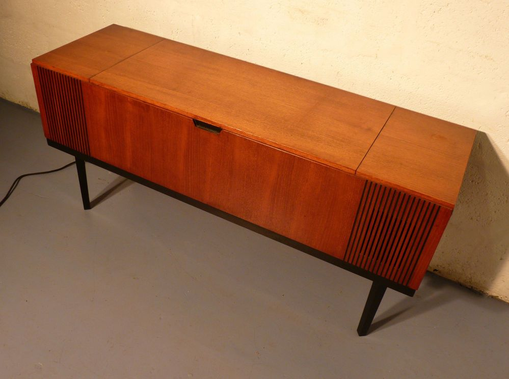 Good Retro Record Player CABINET Gramaphone VINYL Radiogram Vintage TEAK Media  Unit