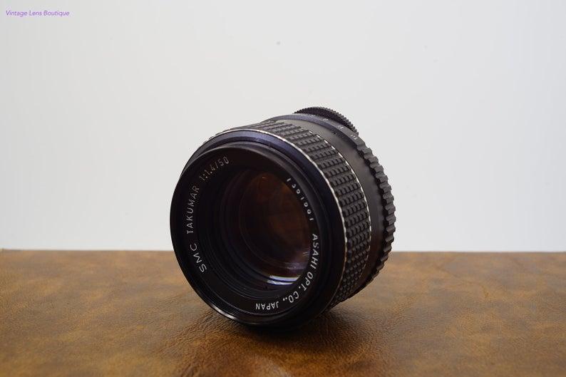 Asahi Smc Takumar 50mm F1 4 Prime M42 Lens Etsy Vintage Lenses Lens Prime Lens