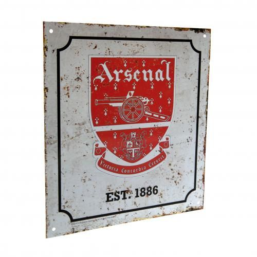 Arsenal Retro Logo Sign Multi-Colour