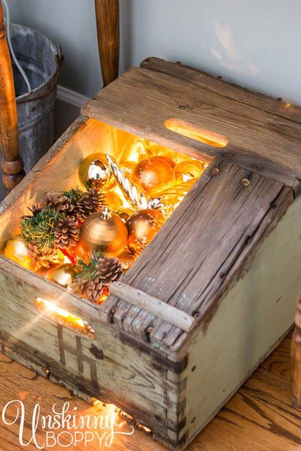 30 fant sticas decoraciones de navidad con madera for Decoracion con madera reciclada