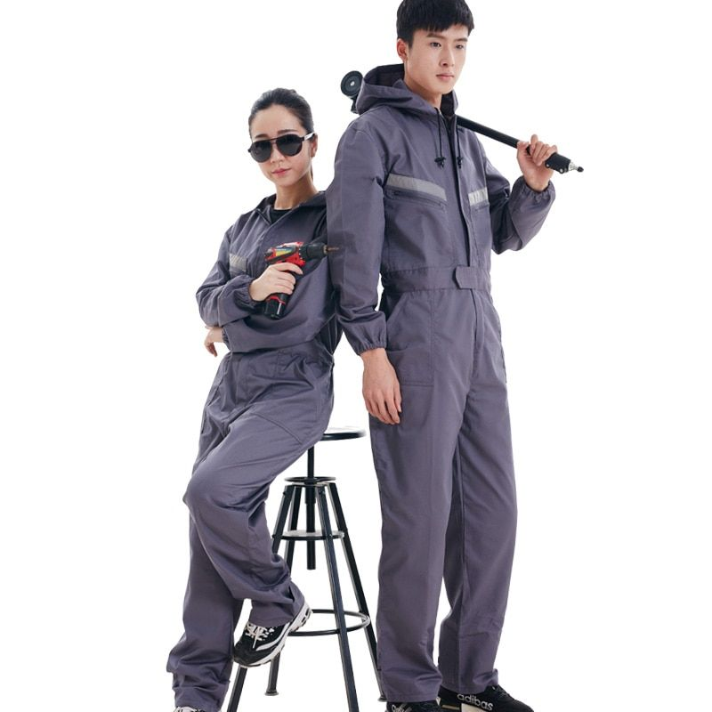 ccgk work clothing hooded overalls men women long sleeve on cheap insulated coveralls for men id=68014