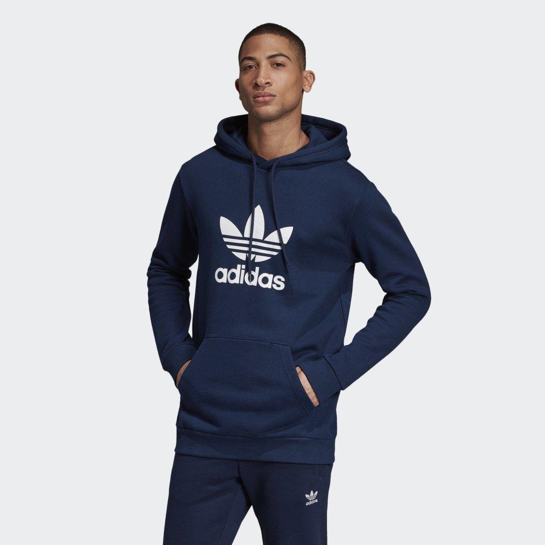 Adidas Trefoil Hoodie Blue Adidas Us Blue Hoodie Men Hoodies Hoodies Men [ 1080 x 1080 Pixel ]