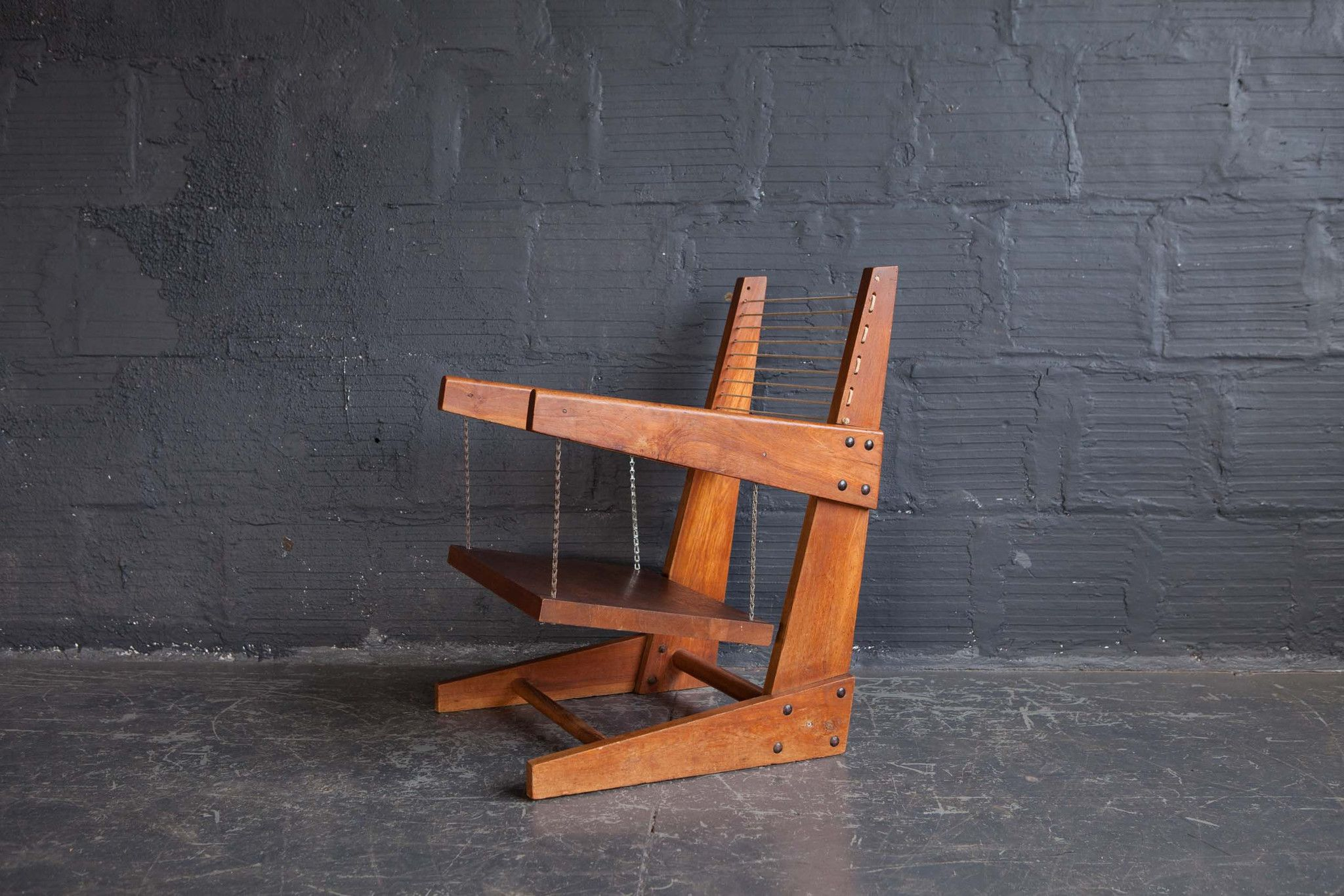 Rare hanging chair by pierre jeanneret design history pierre