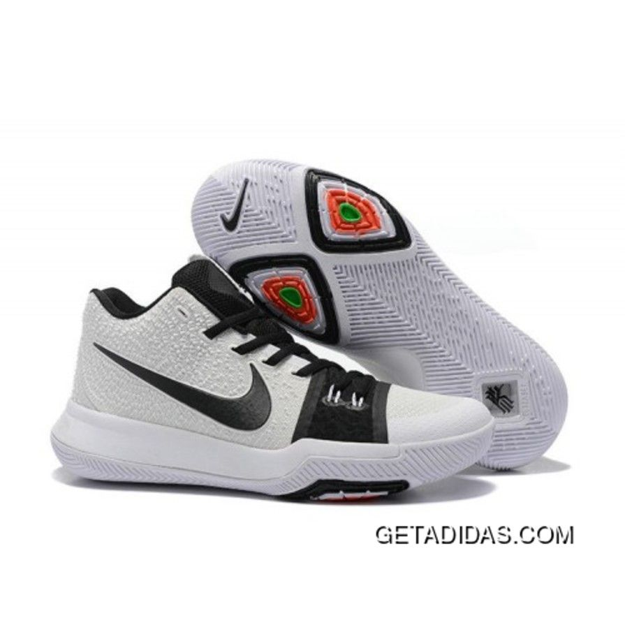 buy online 26e39 bd03d Authentic supply Nike Kyrie 3 White Black For Sale outlet the world, Best  Quality Nike Kyrie 3 White Black For Sale