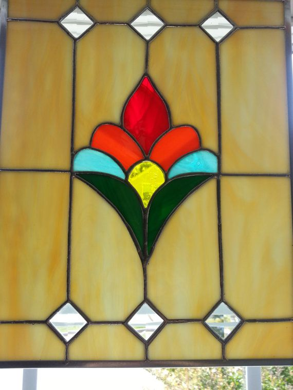Stained Glass Panel on Etsy, $70.00 | lead light | Pinterest ...