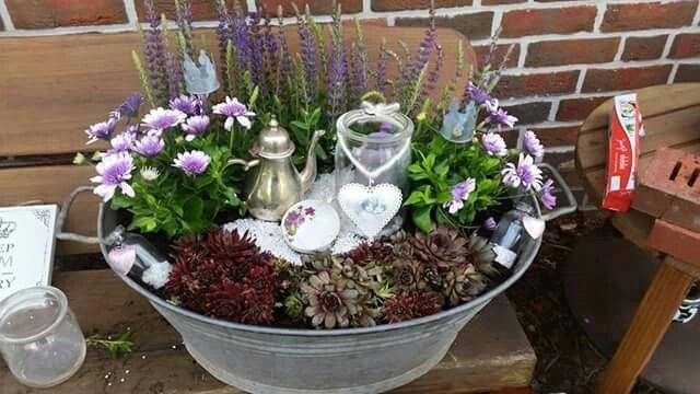 Bepflanzte zinkwanne garten pinterest gardens garten and garden ideas - Zinkwanne garten ...