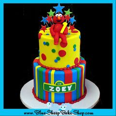 Elmo 1st Birthday Cake Blue Sheep Bake Shop Cakes Pinterest