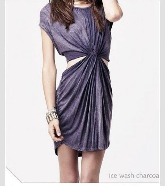 Clothes Refashion, DIY Twisted T Shirt Dress #Fashion #Beauty #Trusper #Tip