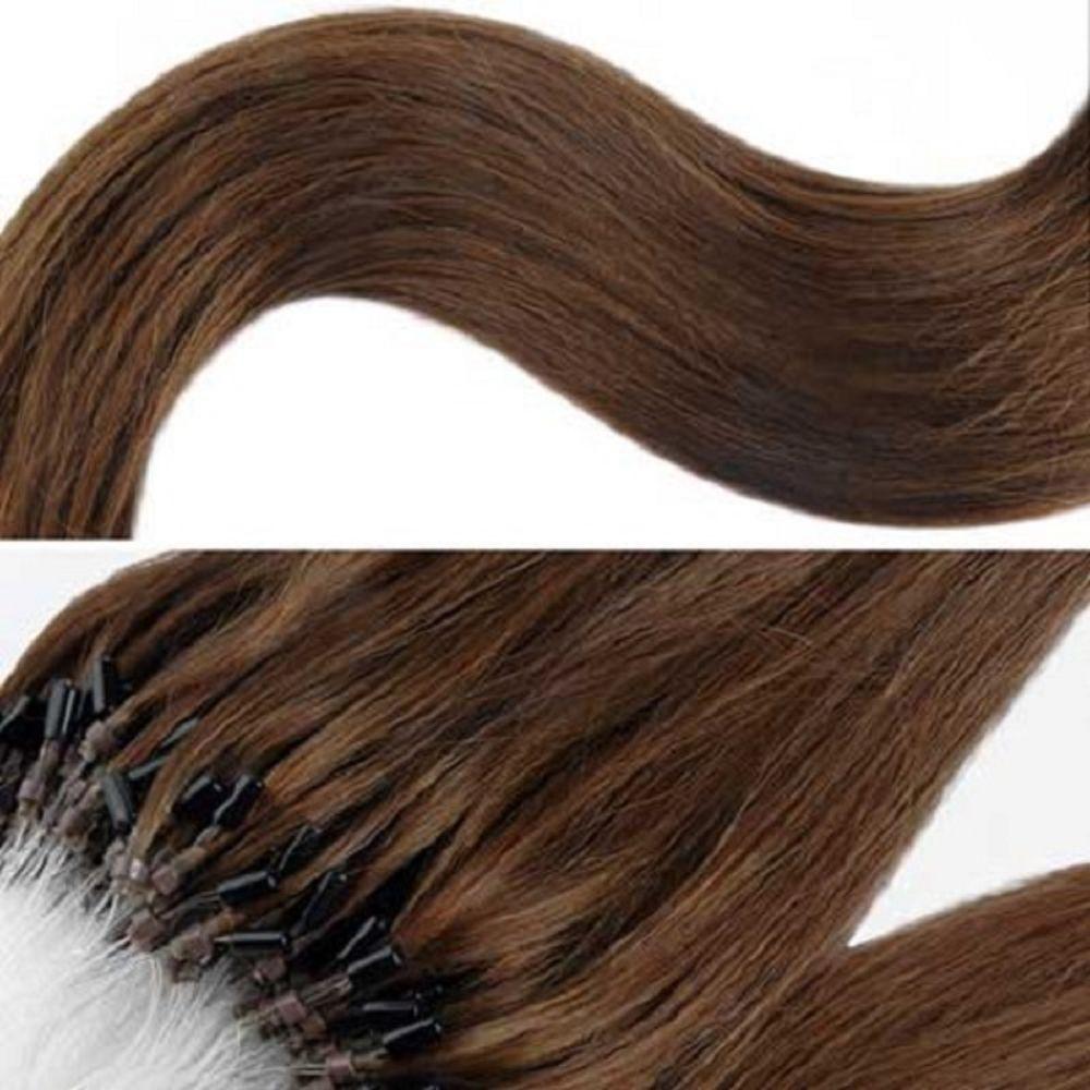 20  Micro Ring/Loop 0.8g 100% Human Hair Extensions 5A Grade STRAIGHT(50STRANDS)