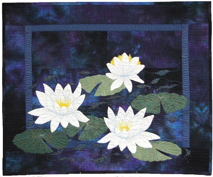 Quilt Patterns Water Lily Three Water Lilies By Ann Fahl