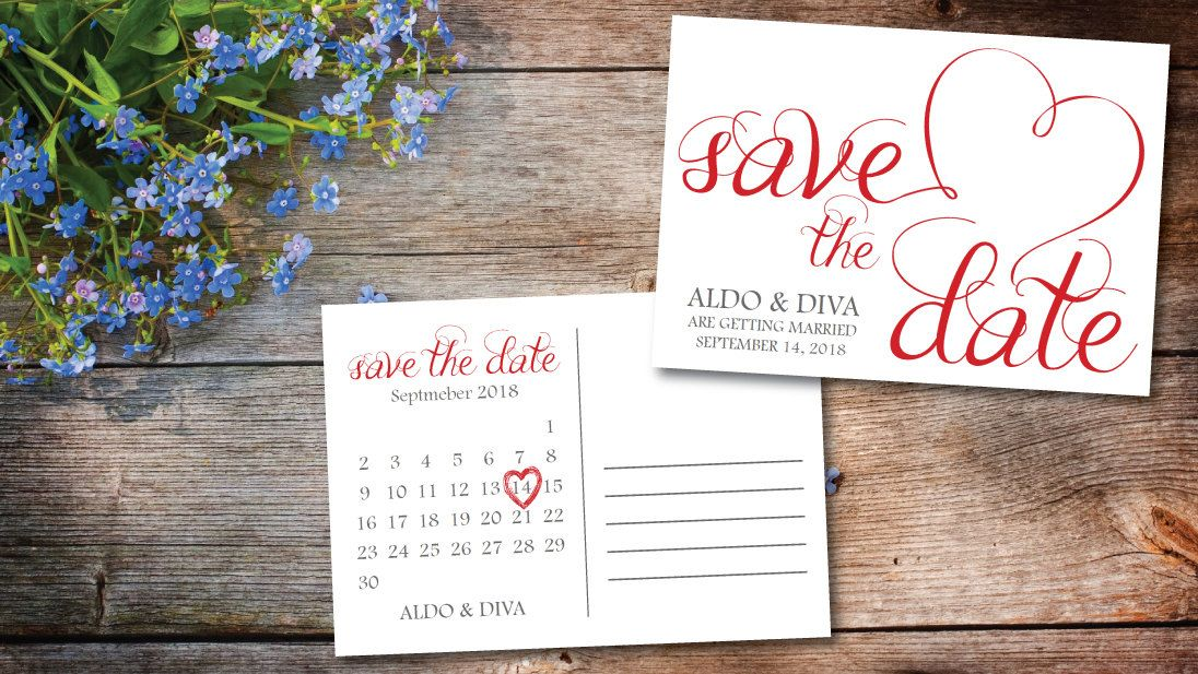 Save The Date Calendar Templatesave The Date Postcard Printable