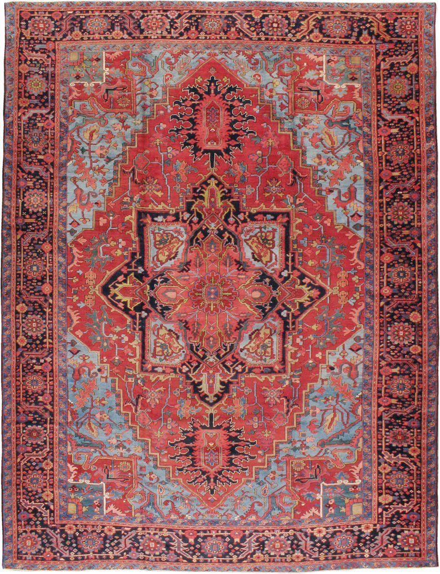 Antique Persian Heriz Carpet, No. 10926 Tappeti persiani