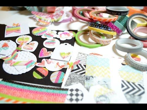 Scrapbooking. DIY,Washi Tape Die Cuts,Tutorial [Basteln mit Papier,Deutsch] - YouTube