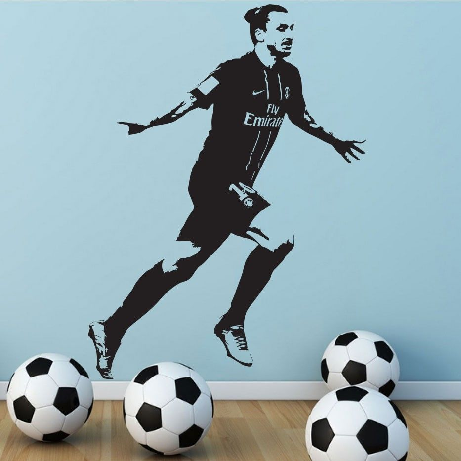 wall sticker decal decor vinyl poster zlatan ibrahimovic psg wall sticker decal decor vinyl poster zlatan ibrahimovic psg soccer football