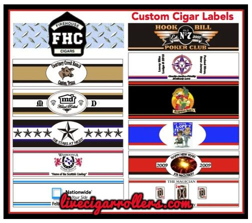 Laura - they'll design custom labels for you, too! Custom Cigar Labels from Bobalu Cigar Company - Austin, Texas