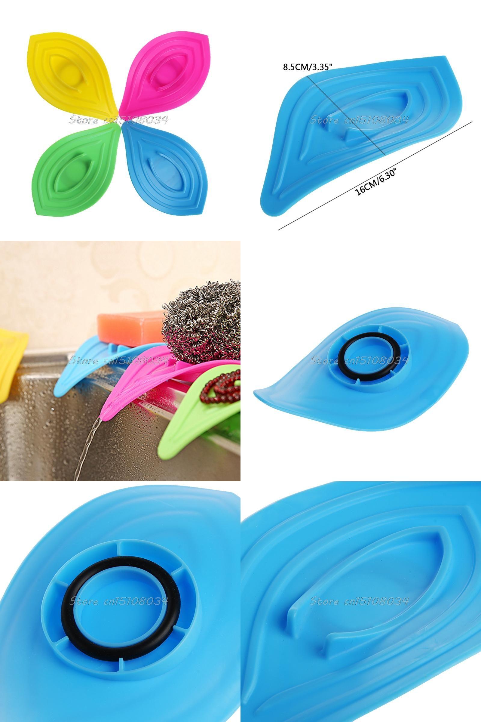 Visit to Buy] Ring Leaves Soap Box Anti-Slip Drain Clean Soap Dish ...