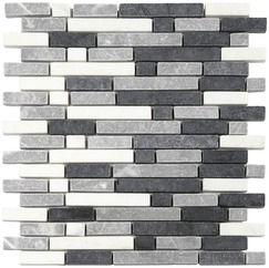 mosa que pierre naturelle mix gris blanc sur filet vos. Black Bedroom Furniture Sets. Home Design Ideas