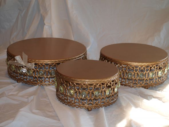 Gorgeous Gold Cake Stands For Sale : Wedding Gold Cake Stands Photo Gallery