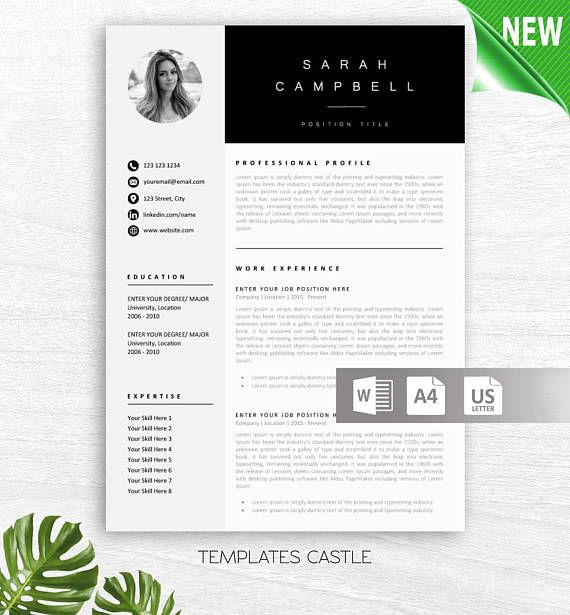 Instant Download Creative Professional Resume Template Word