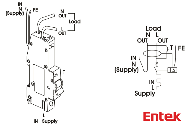 entek electric   rcbo wiring diagram  entekelectric com  mcb  lowvoltage  circuitbreaker