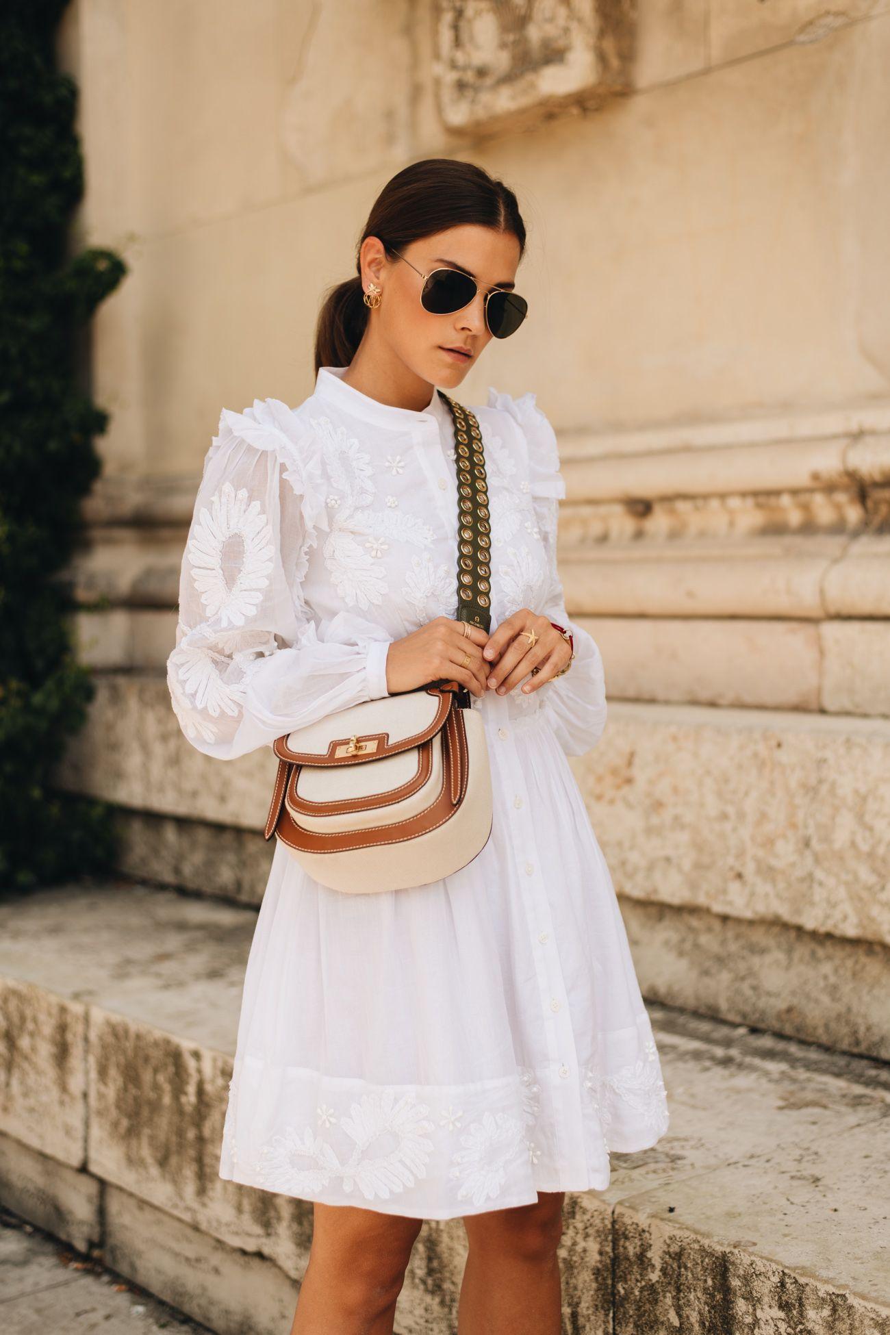 hemdkleid aus baumwolle mit stickereien | outfit, modestil