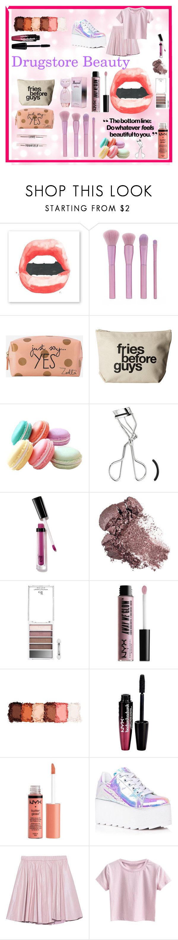 """Beauty"" by bitty-junkkitty ❤ liked on Polyvore featuring beauty, Forever 21, Zoella Beauty, Dogeared, NYX, Charlotte Russe, Y.R.U. and 2NDDAY"