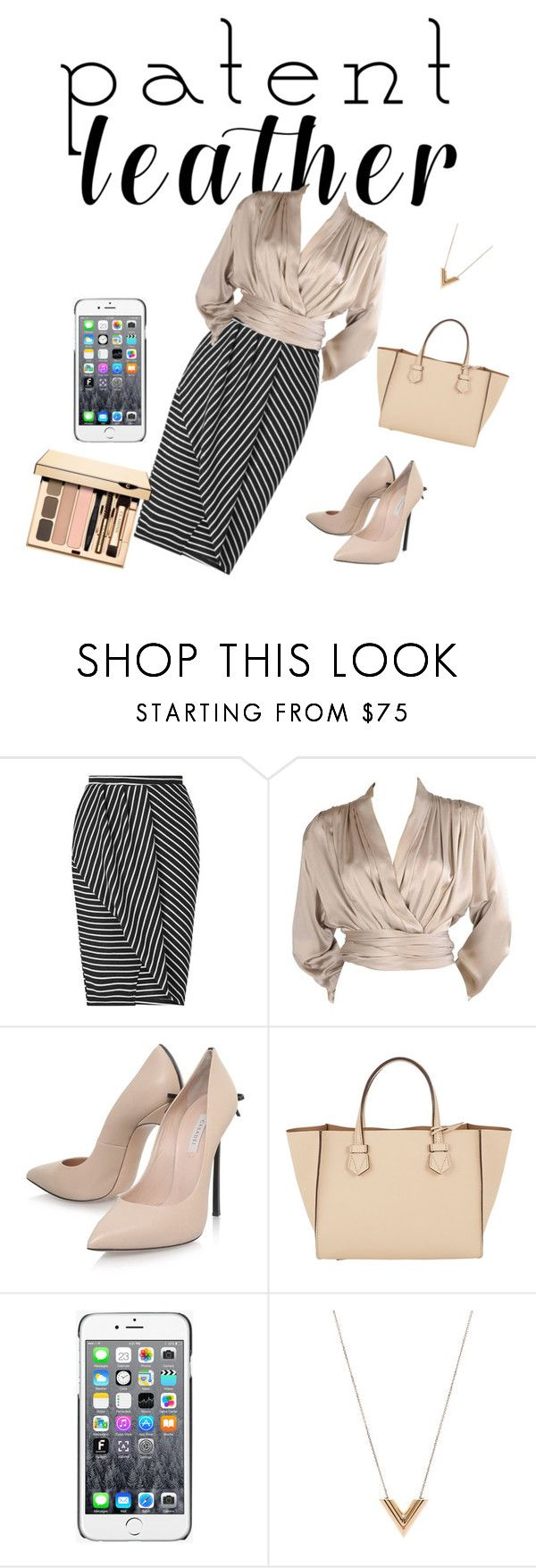 """""""blang"""" by imjustmeforever ❤ liked on Polyvore featuring Miss Selfridge, Yves Saint Laurent, Casadei, Moreau, Moschino and Louis Vuitton"""