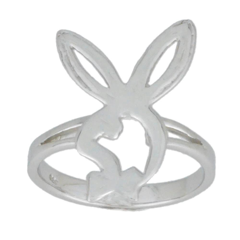 Bunny Playboy Ring .925 Sterling Silver by ElizabethJewelryInc on Etsy