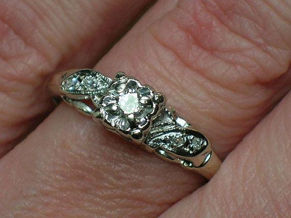 Vintage Engagement Ring quotEternal Lovequot Tudor Rose