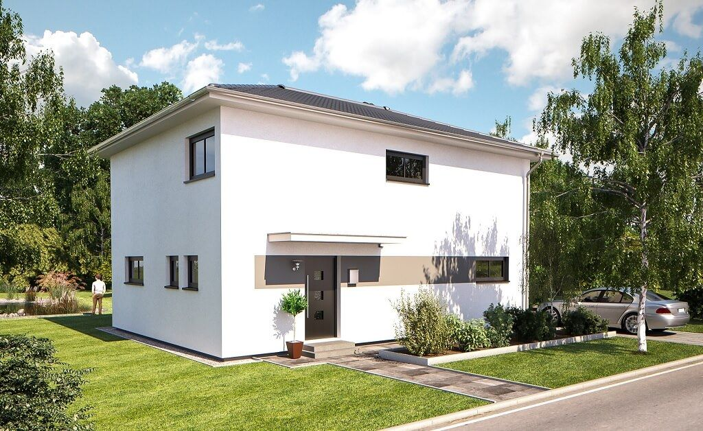 Minimalistische Stadtvilla   Einfamilienhaus Top Star S 149 Von Hanlo Haus    Fertighaus Bauen Moderne Architektur