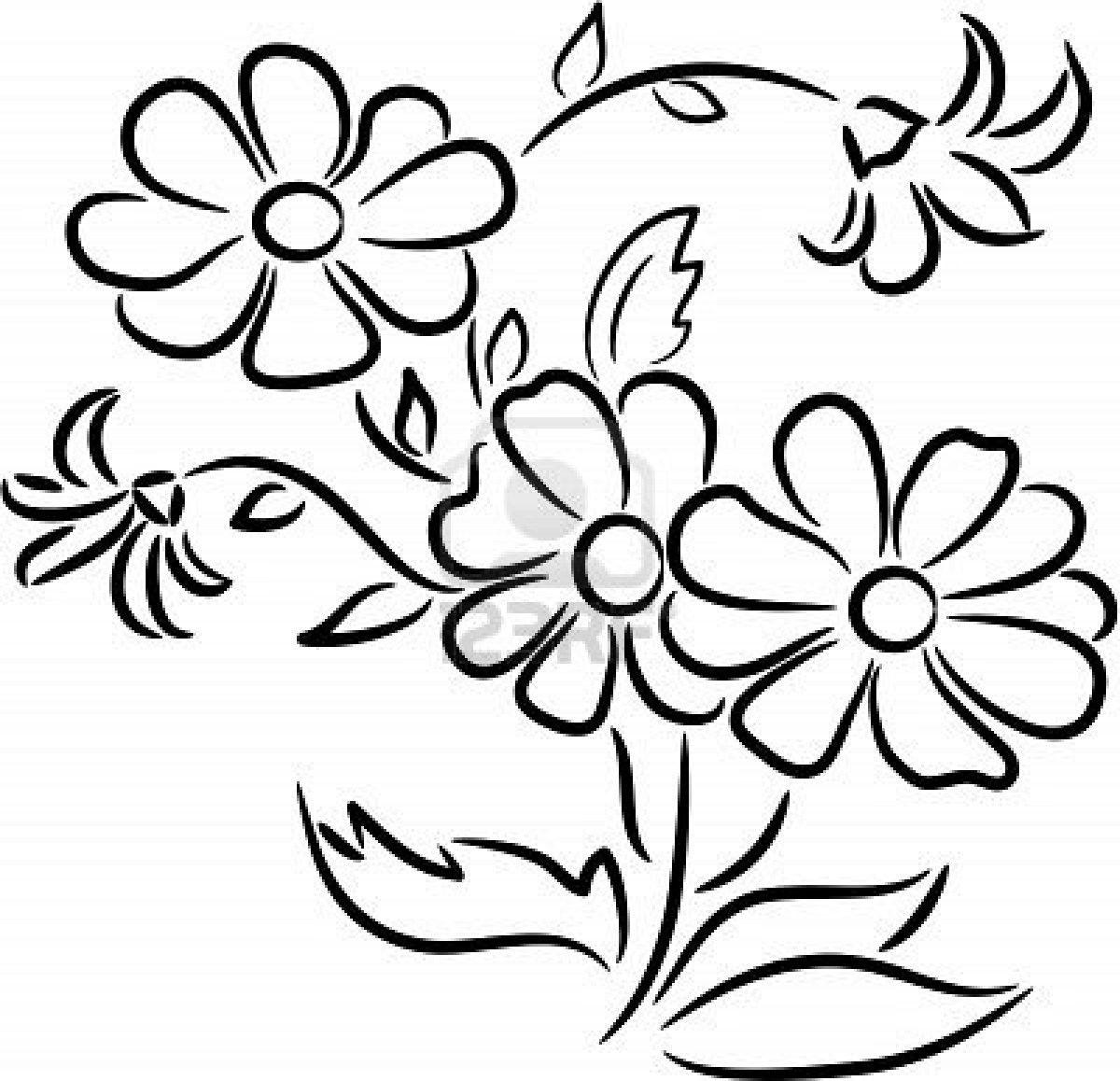 Ramos De Flores Para Colorear Imagenes Dibujos Imprimir Id 50061 Uncategorized Paginas Para Colorear De Flores Dibujos De Flores Bordado Mexicano Patrones