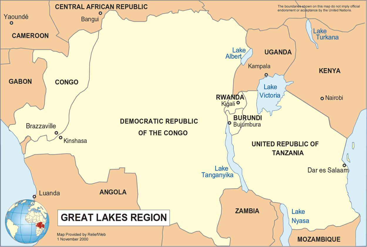 Africa Map Lakes.Map Of The African Great Lakes Info Graphics And Other Stuff
