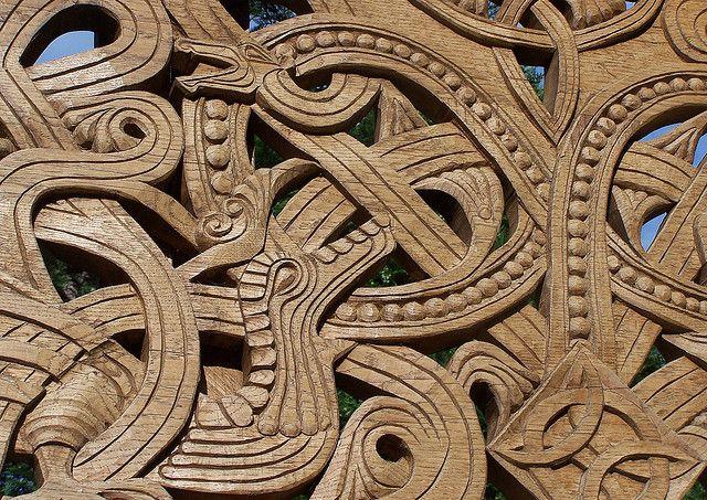 Viking wood carvings in poland vikings wood carving carving