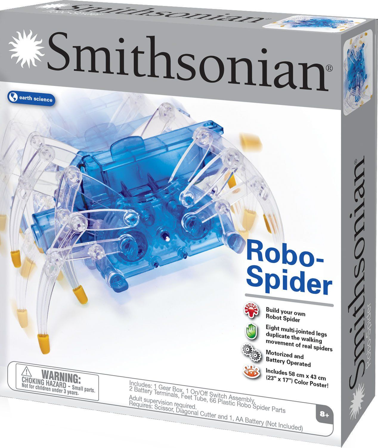 Amazoncom Smithsonian Science Activities Robo Spider Kit Toys Snap Circuits Sc300 Electronics Discovery Games