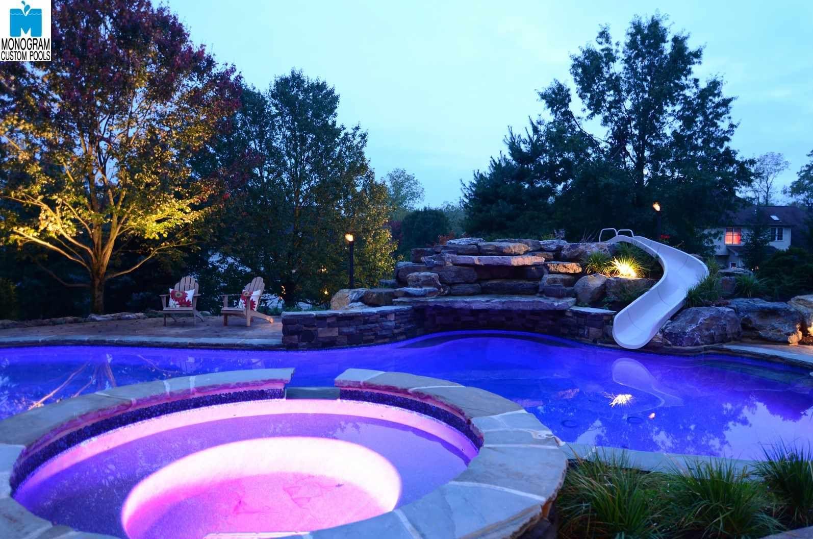 Custom Pool Ideas custom pools for 70000 to 100000 anthony sylvan pools Lights Illuminate A Custom Pool By Monogram Custom Pools