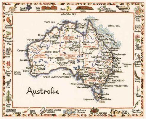 Gallery.ru / Фото #1 - Map of Australia - natalytretyak