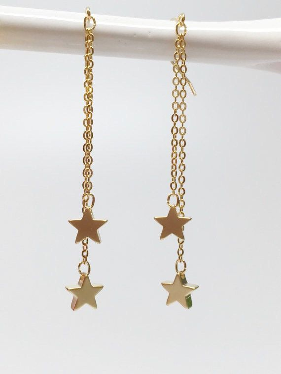 Bridesmaids Star Earrings Dangle Hipster By Beadsforyou8 On Etsy