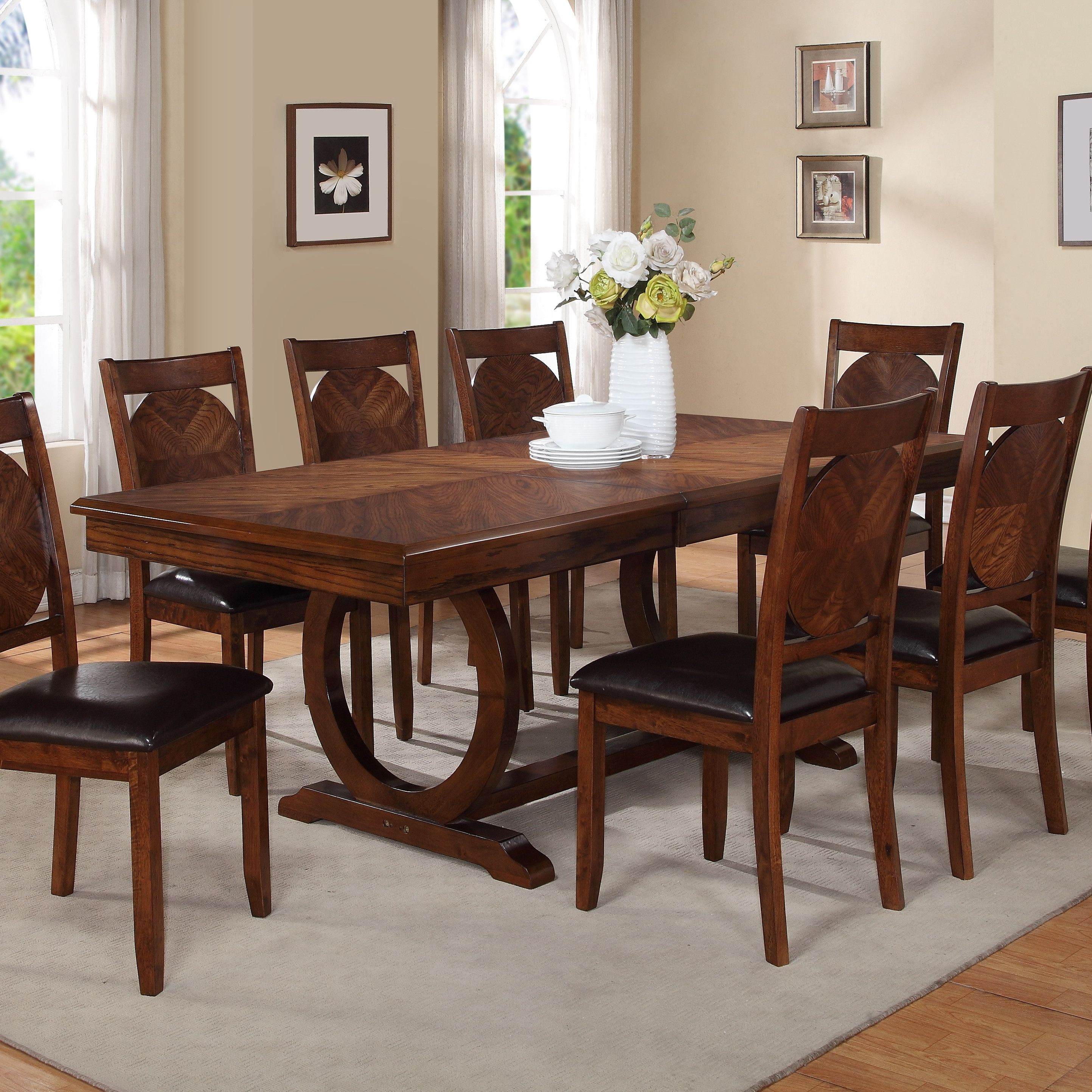 Worldmenageriekapoorextendablediningtablewdmg2696 2887 Entrancing Extendable Dining Room Sets Review