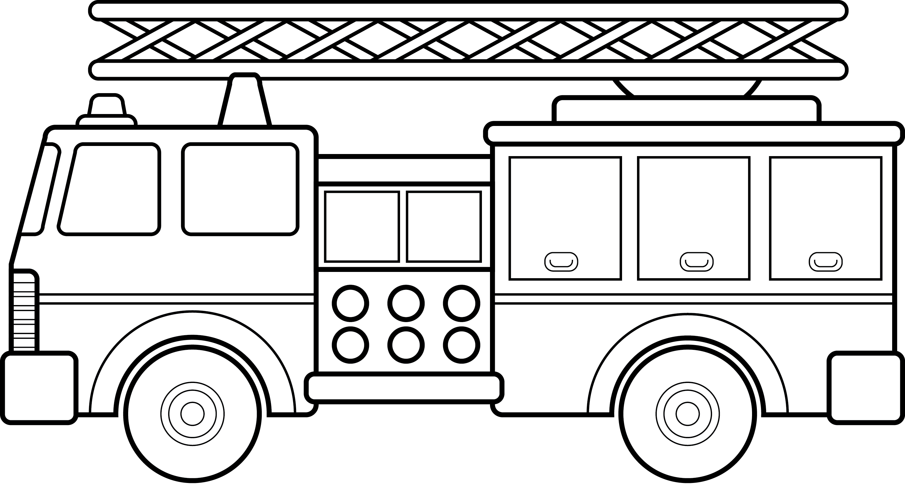 Big Fire Truck Coloring For Kids