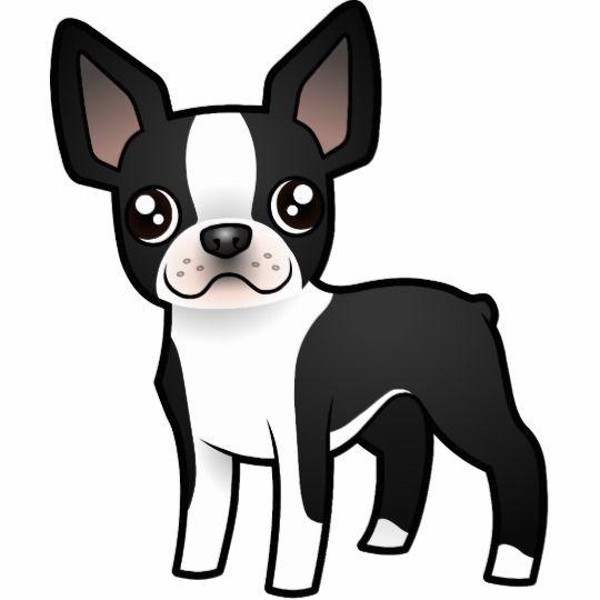 Cartoon Boston Terrier Cutout Zazzle Com Boston Terrier Funny Boston Terrier Boston Terrier Puppy