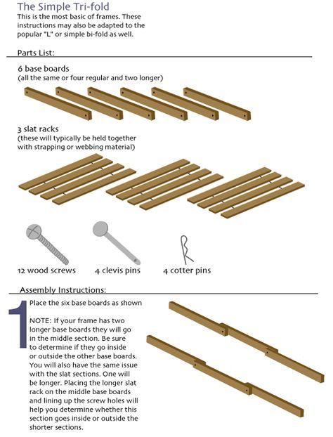 Build A Tri Fold Futon Frame Trifold