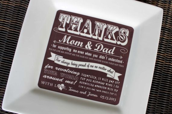 Parent Wedding Gift from Bride & Groom Thank You via Etsy | Words ...