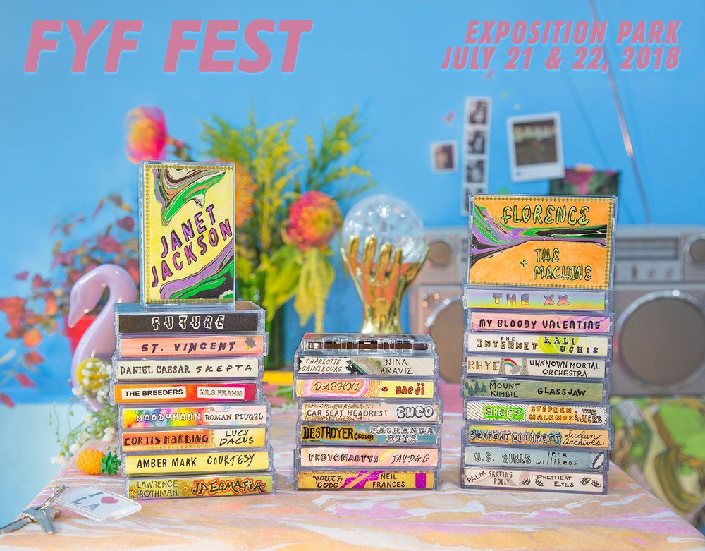 Fyf Los Angeles Late July 2019 The Incredibles Festival Posters Janet Jackson
