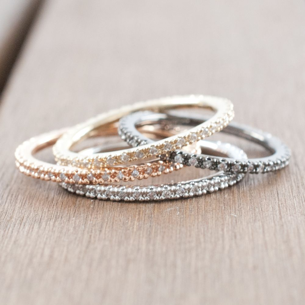 The perfect one stacking rings Exist in gold rose gold silver