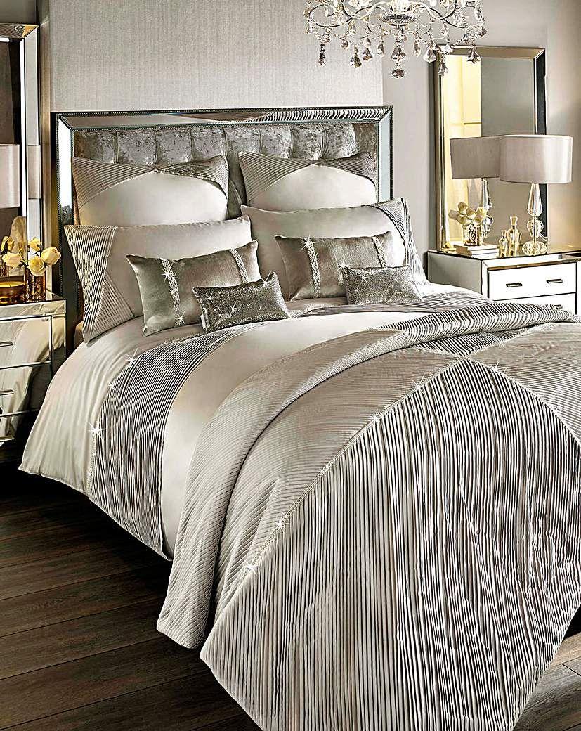 Kylie Omara Champagne Duvet Cover Champagne bedroom