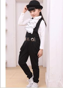 bd9b69299b7 SuspenderS suit 13-year-old female children's clothing han edition new  spring 5 6 8 9 10 11 12 year old girl dress free shipping